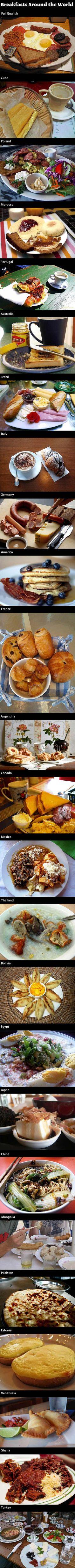 Breakfasts around the world.