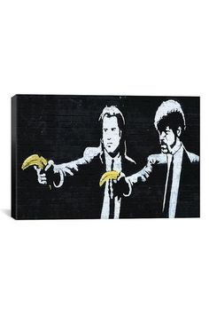 Banksy Pulp Fiction Bananas