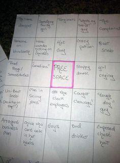 Bar Bingo -well this is happening!!!!