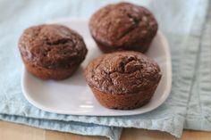 Chocolate Zucchini Muffin recipe. From http://eatingcleanrecipes.com/ © FOOD FIX, LLC #recipe