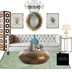 Shop it! Coastal Elegance design board  projectdecor.com/whitelineninteriors