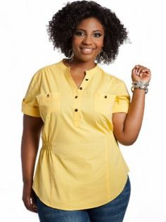 Ashley-Stewart-Womens-Plus-Size-Cinched-White-Top-Sun-Struck-16-0