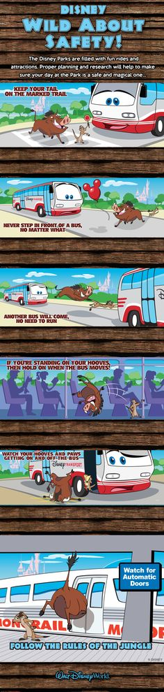 Safety tips for your Walt Disney World vacation starring Timon and Pumbaa!