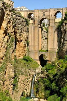 How'd they do that?? Spanning the gorge, Ronda  Spain