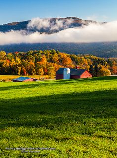 Wantastiquet Rising, outside of Brattleboro, Vermont. I loved this farm.