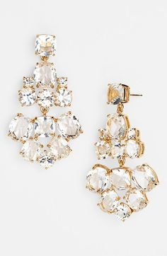 kate spade new york chandelier earrings (Save Now through 12/9) available at #Nordstrom accessori, chandeliers, crystal earrings, chandelier earrings, diamond earrings, jewelri, chandeli earring, kate spade, spade chandeli