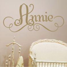 Annie's Personalized Wall Decal @Layla Grayce