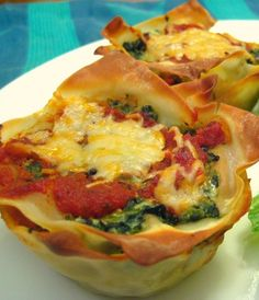 Recipe For Mini Veggie Lasagnas