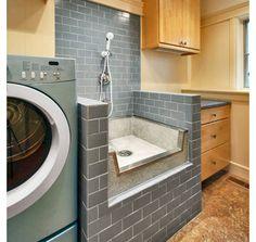 modern laundry room Dog Bath