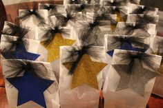 Cheer squad gift bags.