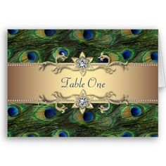 Peacock design table numbers