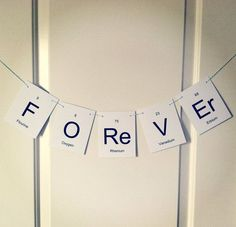 FOREVER Periodic Table Wedding Banner