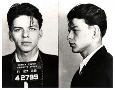 music, sexi mugshot, movi star, 1938, fashion real, beauti peopl, arrest frank, mug shots, frank sinatra