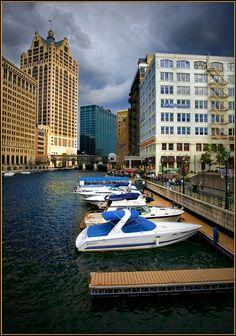 WISCONSIN:  Riverwalk in Downtown Milwaukee