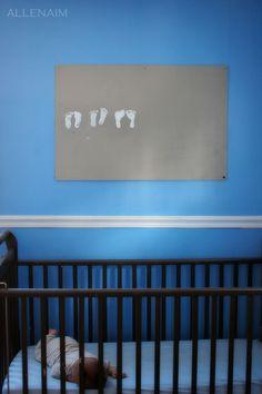 Footprint art each month until a year old.