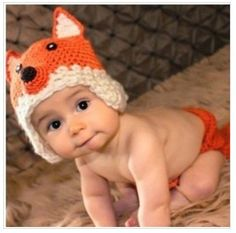 Baby Fox Newborn Baby Crochet Knitted Baby Hat Cap Photography Prop Costume Baby Animal Hat Cap - 31.50 - Etsy.com