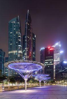#Singapore Skyline at Night