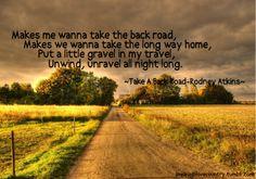 take a back road :)