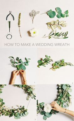DIY Wedding Wreath. So beautiful for the chapel doors! Love that it's customizable too - choose flowers to match your color scheme!