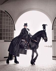 Martha Stewart and her Friesian love Halloween!