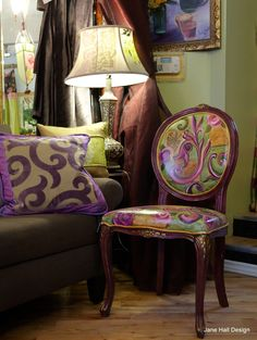 Hand Painted Queen Anne Chairs