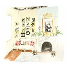 """Illustrations by Virginia Johnson in """"The Perfectly Imperfect Home"""""""