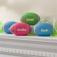 Personalized Easter Egg Collection Display from PersonalizationMall. These are so cute! They're only $12.95 and you can personalize any color with any name! #Easter #Egg