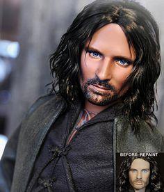 Doll Repaint - Aragorn by noeling
