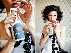 Drink Me #valentinesday #milkjug #weddings #blackandwhite #red #queenofhearts #dessert lovetoastblog.com...