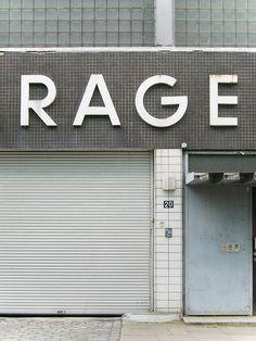 RAGE, typography