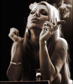 Cigar Smokin Hotties