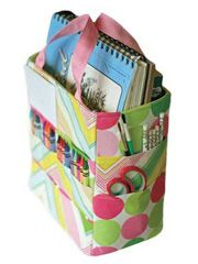 Handbag Designs with Pockets - The Art Caddy Tote Pattern