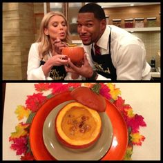 #KellyandMichael made Kelly Ripa's #Thanksgiving Autumn Soup! Check out http://dadt.com/live/recipe-finder.html?recipeID=15342 for the recipe!