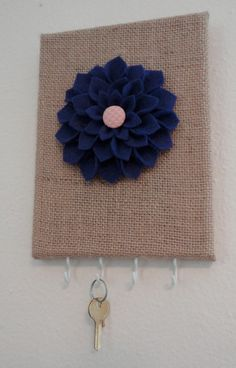 This would be perfect to hang our keys on! I would use a different material!