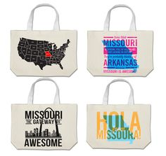 Help fund the Missouri is Awesome Kickstarter program and get Missouri themed items, like these totes!