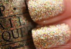 sparkly opi nail polish very pretty