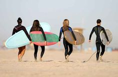 Going surfing with the girls!
