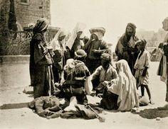 Bethlehem-بيت لحم: Bethlehem women buying corn from villagers, 1913ram321z