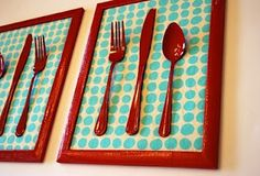 fun kitchen decor.... Match color scheme Could do this with an object for any room.