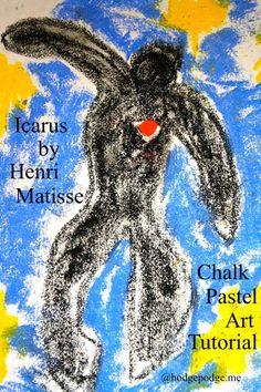 Icarus by Henri Matisse Chalk Pastel Art Tutorial www.hodgepodge.me