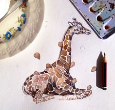 A sweet little work-in-progress by NZ artist Chloe Sawyer (Chloe Ruby)  See more of her work and an interview here:  http://nzartprints.co.nz/2014/07/meet-the-artists-chloe-ruby/