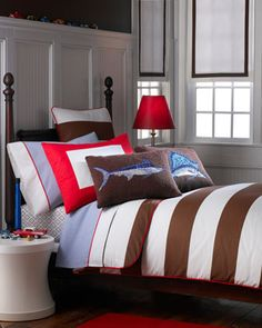 """""""Asher"""" Bed Linens at Horchow."""