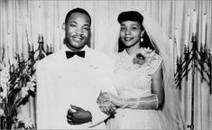 Martin Luther Kinf & Coretta Scott King, married June 8, 1953 in Alabama.