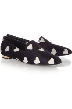 Burberry heart-print loafers