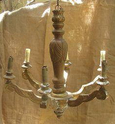 Trouvé // Antiques Home Garden // Phoenix AZ, Scottsdale, AZ » Blog Archive 19th century gilt wood Italian chandelier. |