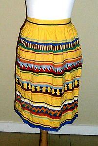 BEAUTIFUL Vintage Textiles 1950s FL Seminole Indians Patchwork/Piecework Apron. $29.99