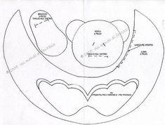molde 2 - ursinho porta de maternidade ou enfeite