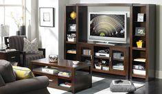 Home Entertainment Center Furniture - Entertainment Wall Units ...