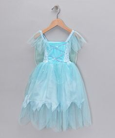 Take a look at this Blue Winged Dress - Toddler & Girls by Princess Expressions on #zulily today!