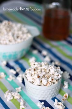 Homemade Honey Popcorn recipe. This delicious recipe is sweet, salty, and crunchy
